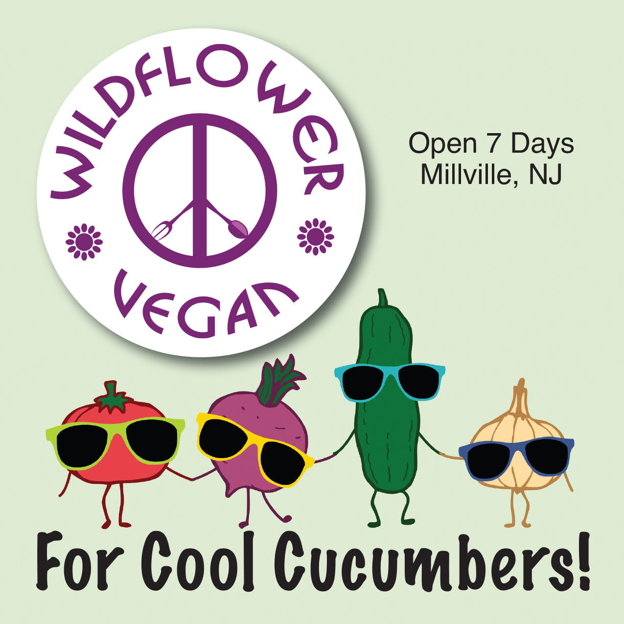 For Cool Cucumbers 4x4 Bumper Sticker