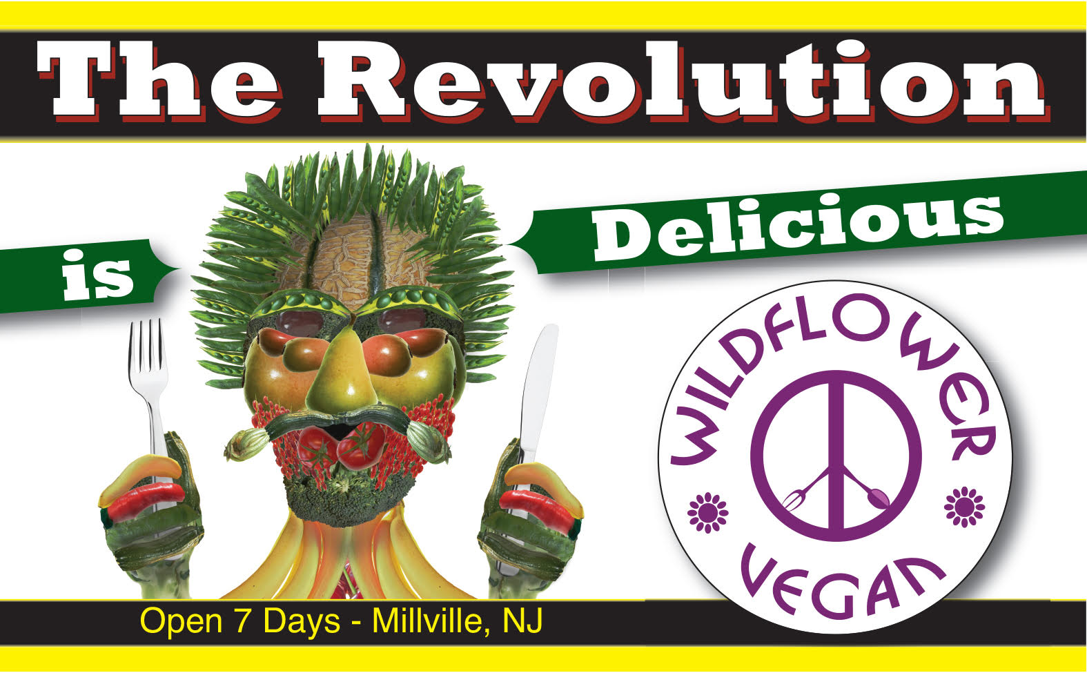 The Revolution is Delicious Bumper Sticker